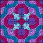 Spinning Fan and Winding Curve Quilt